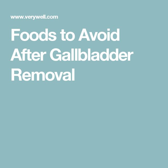 What Foods Should You Avoid After Gallbladder Surgery