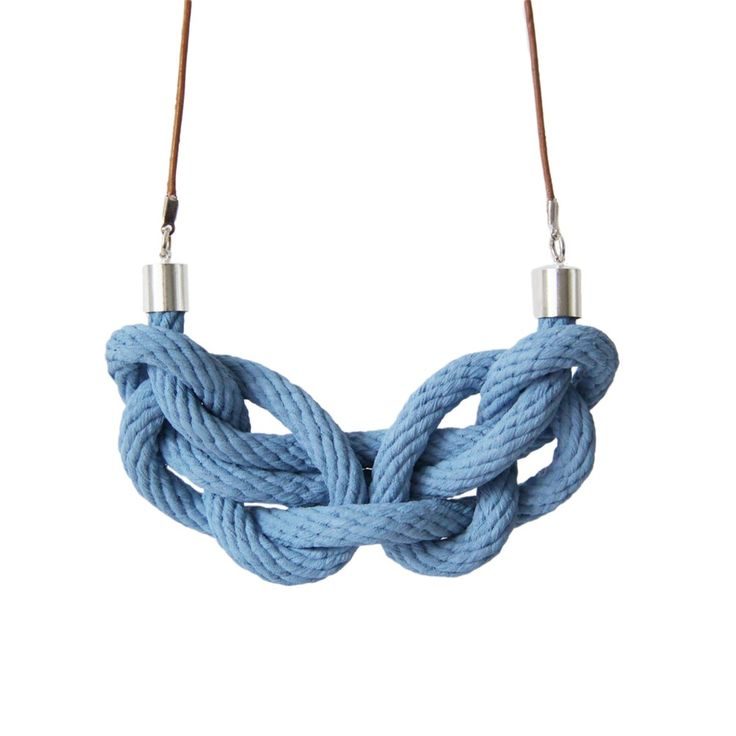 Image of Knot necklace in chambray