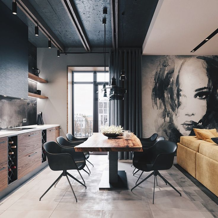 "✪ LOFT INTERIOR DESIGN IDEAS on Instagram: ""YES OR NO? Oft 📐 Loft Apartment designed by Leonid Sizikov ⠀ ••••••••••••••••••••••••••••••••••••••• ••••••••••••••• ▪️Master's team … """