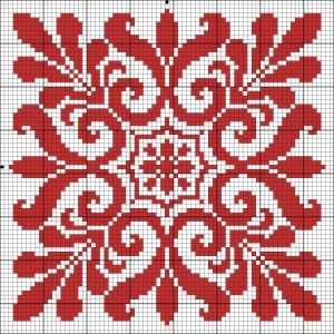 Chart for cross stitch or filet crochet.