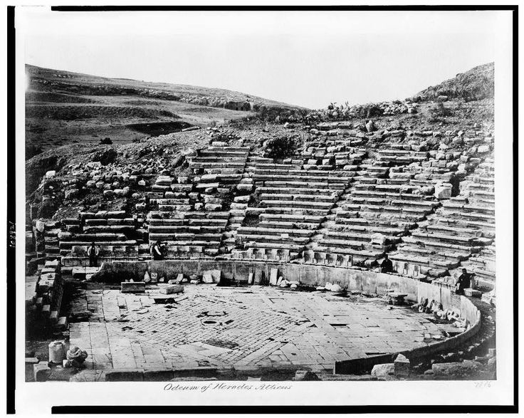 Odeon of Herodes Atticus - Photographs of Athens in the Late 19th and Early 20th Century  Best of Web Shrine