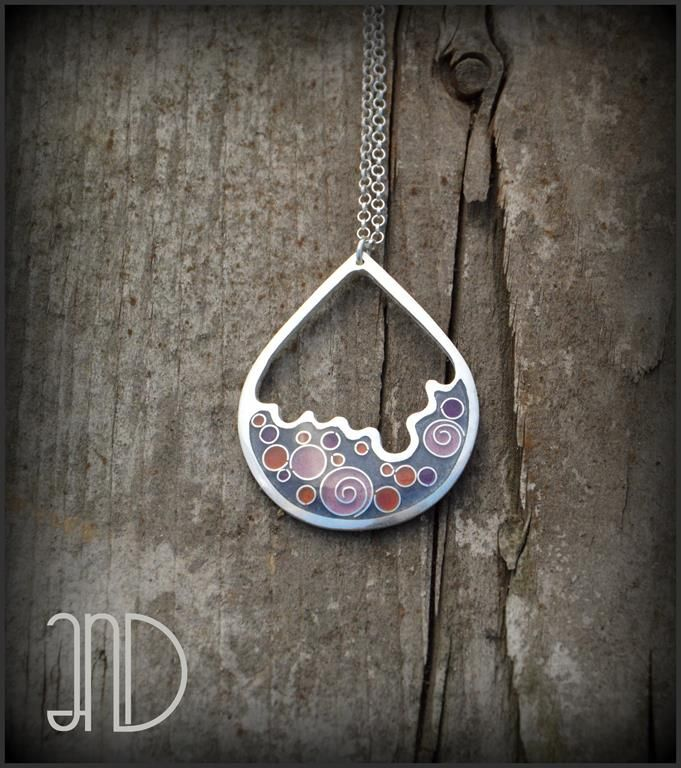 """""""Drops""""- pendant. Cloisonne enamel  by AnD Jewelry. www.facebook.com/ANDcli"""