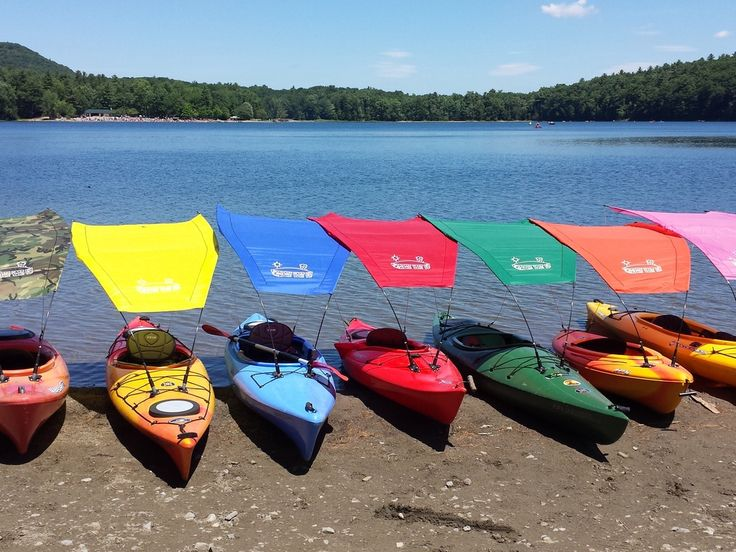 Shade dry boat fly a canopy for canoes and kayaks for Fish camping boat