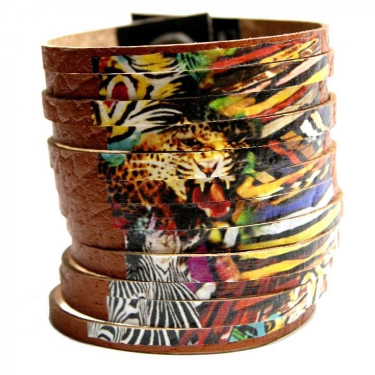 Afryka – bransoletka artystyczna skórzana. Wykonana z naturalnej skóry w kolorze brązowym. #africa #afryka #skóra #bracelet #etno #ethnic #bracelet #african