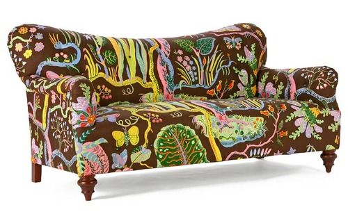 well, the cat vomit definitely wouldn't show...   Joseph Frank couch. Design from Sweden