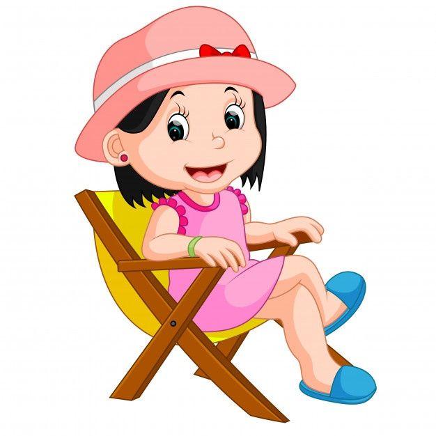 Nina Sentada En La Silla Vector Premium Premium Vector Freepik Vector Mujer Chica Dibujos Animados Playa Nino Sentado Ninos Saltando Ballenas Lindas