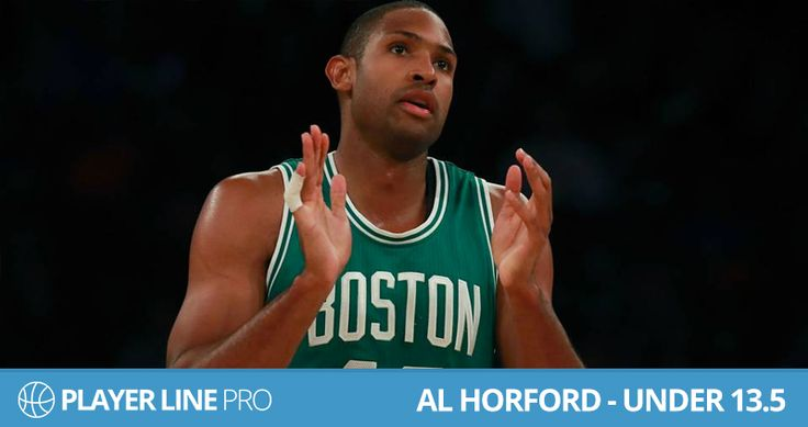 Picture of Al Horford – Under 13.5. Al Horford is going to play against his old team the  Atlanta Hawks. Hawks have restricted opposition centers to -15% which is averaging score over the whole season To know more about him visit : playerlinepro.com