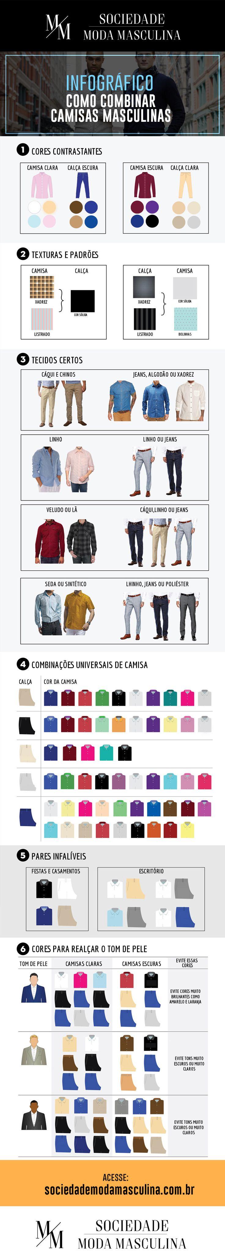 como combinar camisas masculinas