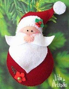Faire un Père Noël en feutrine, des modèles, des tutos                                                                                                                                                                                 Plus