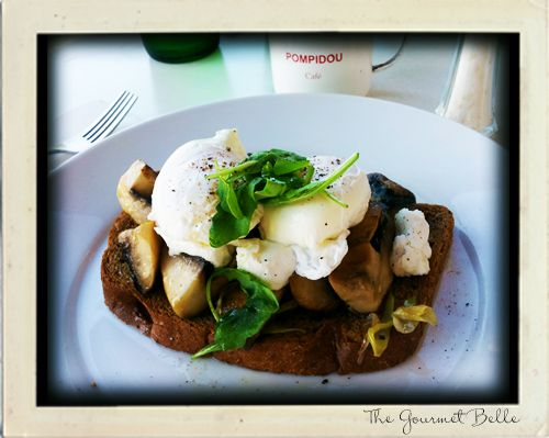 Breakfast at Pompidou Cafe in Balmoral, Brisbane. Mushrooms, poached eggs and spinach on rye. #brunch #breakfast #Brisbane