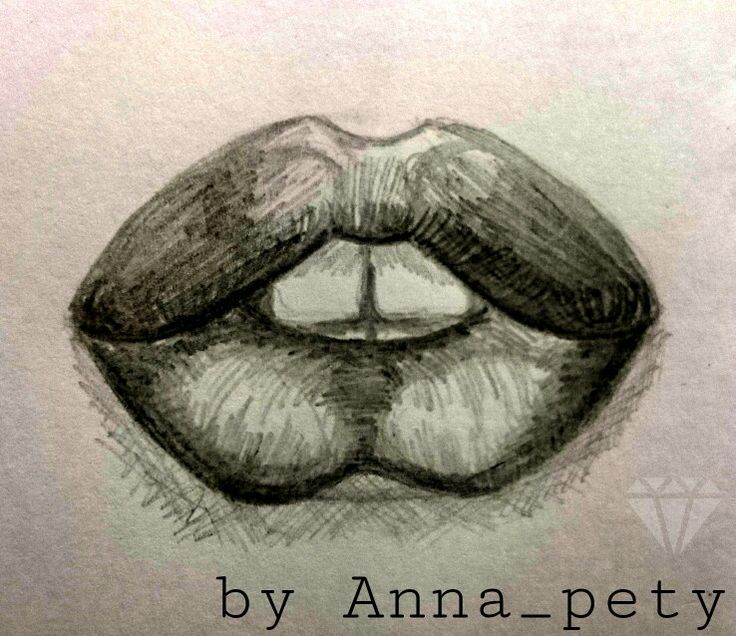 #art #lips #pencil