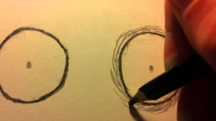 How To Shade Eyes In The Style Of Tim Burton Self Portrait - How To Draw Like Tim Burton
