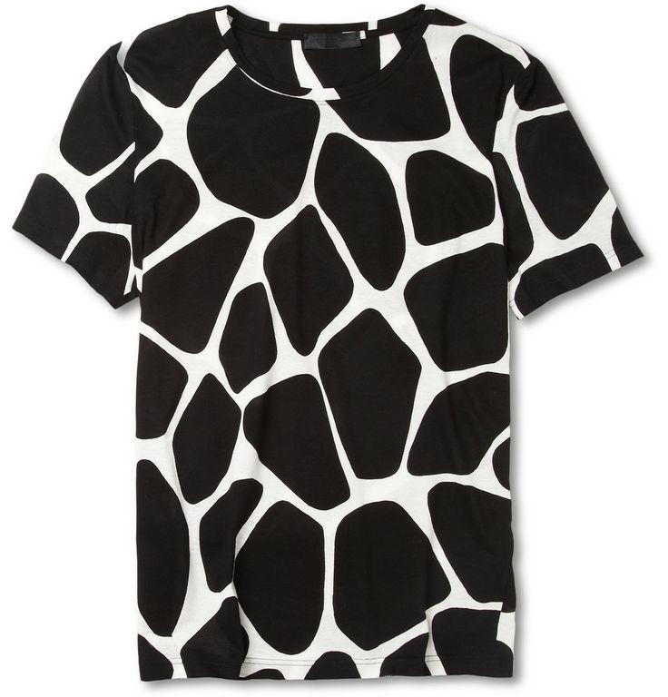 Product Burberry Prorsum Giraffe Print Cotton Jersey T Shirt 359645 Mr Porter Wishlist