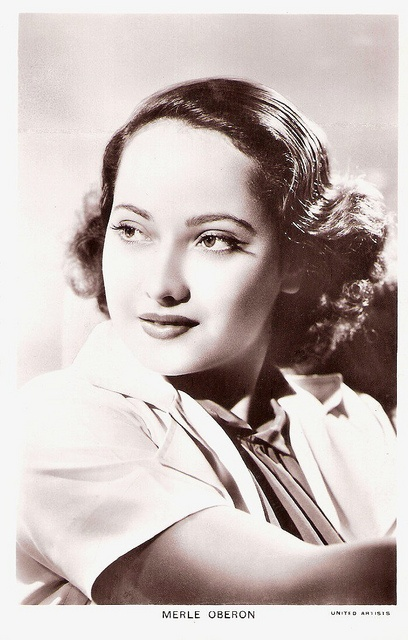 """Indian-born British actress Merle Oberon (1911-1979) had her breakthrough as Anna Boleyn in The Private Life of Henry VIII (1933). She played leading roles in such British films as The Scarlet Pimpernel (1934), before she travelled to Hollywood to star in classics as The Dark Angel (1935) and Wuthering Heights (1939)."""