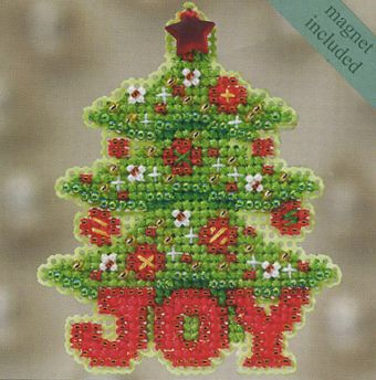 Joy Tree Fridge Magnet Cross Stitch Kit   sewandso