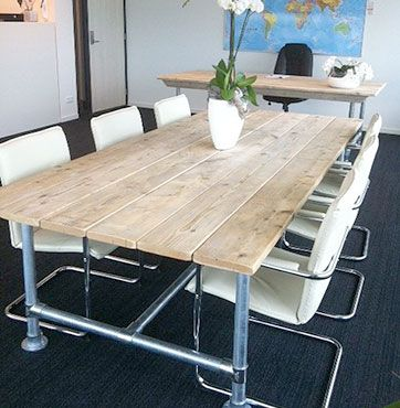 See More Conference Tables Built With Industrial Pipe  Http://www.simplifiedbuilding.