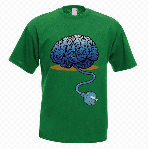 Unplugged Brain Funny T-Shirt - http://goo.gl/glfi67
