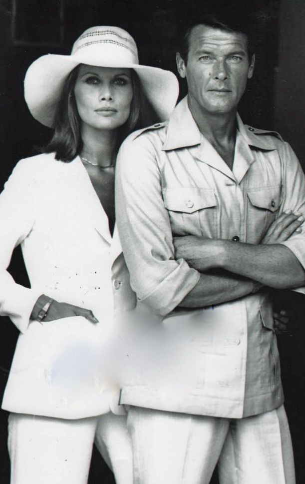Maud Adams  with Roger Moore  Octopussy  1983
