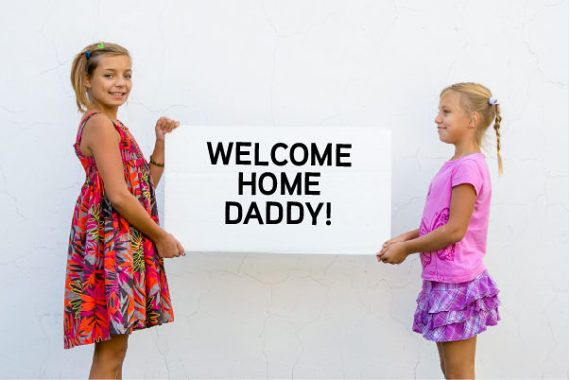 Making a welcome home sign for dad? Instead of buying multiple packs of letters from the craft store, order a Homecoming Sign Kit! This listing is for the phrase WELCOME HOME DADDY!  Details:  + High-quality adhesive vinyl letters measuring 3 (additional sizes available upon request) + Choice of vinyl color + Choice of font (type) style + FREE SHIPPING! (If youre at an APO/FPO, please message us in advance.)  Your package will be shipping in a rigid envelope to ensure they are not bent o...