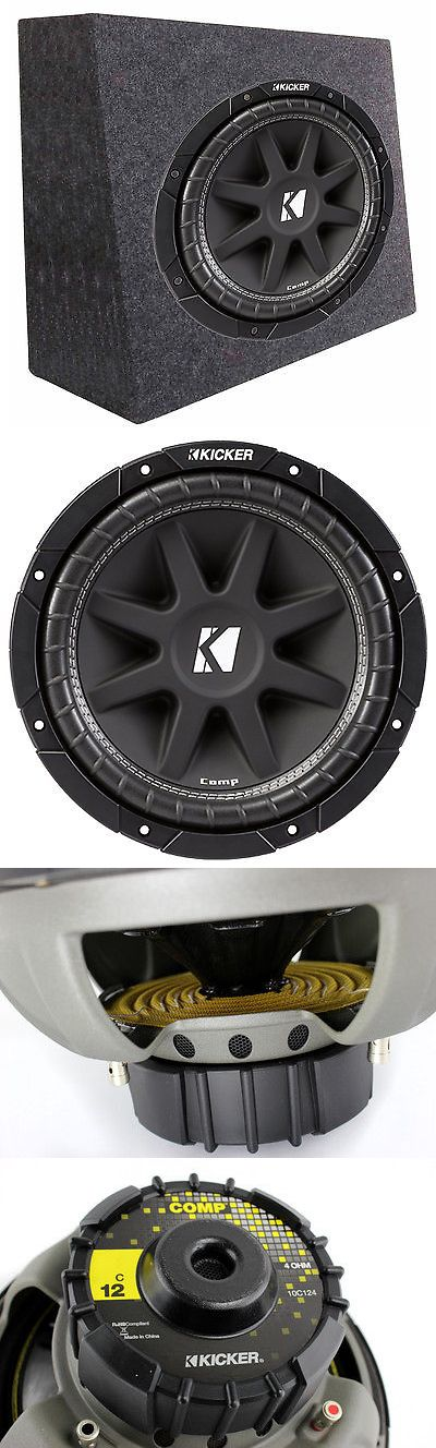 Car Subwoofers: New Kicker Car Audio 12 Loaded Custom Truck Sub Box Enclosure W C12 Subwoofer -> BUY IT NOW ONLY: $84.99 on eBay!