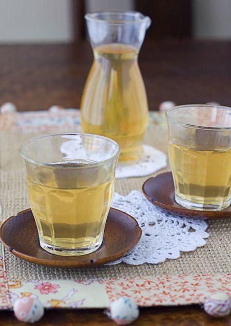 Mugicha - Japanese roasted barley tea. Easy to make, soooo good cold, and no caffeine!