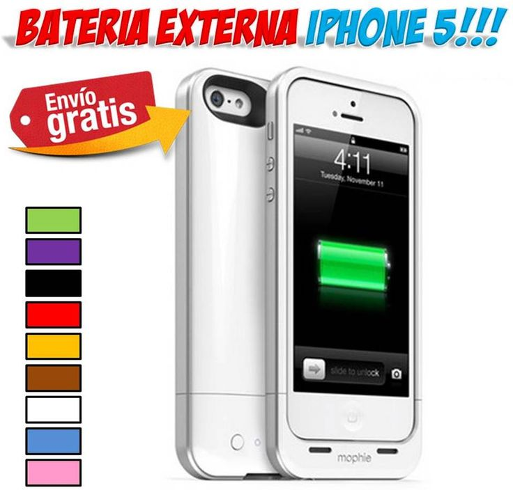 #baterias #cargadores #iPhone #Smartphone #moviles #accesorios #yougamebay Comprar bateria externa para iPhone 5 / 5S. http://www.yougamebay.com/es/product/bateria-externa-iphone-5-recargable-power-bank