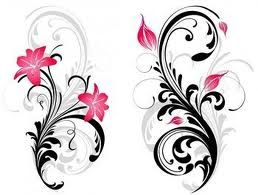 Oh I'm loving the flourish behind this lilly on the left. It'd work nicely for my tattoo I think.