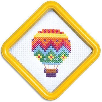 Amazon.com: Easystreet Little Folks Hot Air Balloon Counted Cross-Stitch Kit: Arts, Crafts & Sewing