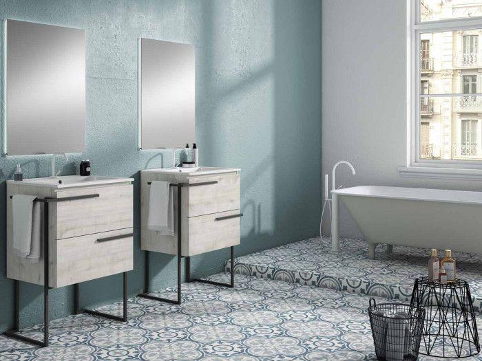 Scala Abedul Floor Standing Vanity And Basin 490x590x830mm