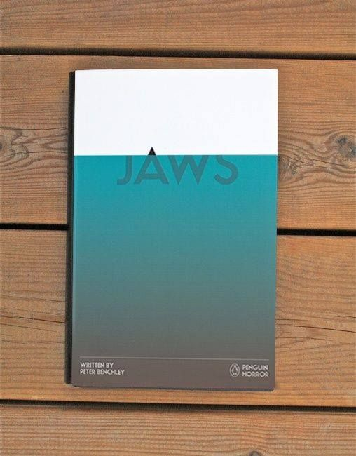 This book cover is so simple yet so strong. I love the idea of the 'A' peering over the blue 'water' to represent the sharks fin.