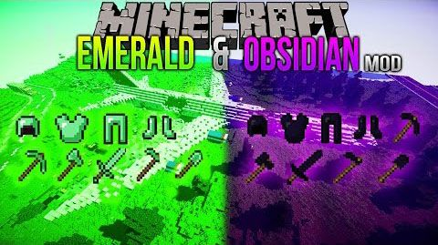Emerald & Obsidian Mod - minecraft mods 1.10.2 : If you want obsidian and emerald tools and armor, you are on the right place. ...   | http://niceminecraft.net/tag/minecraft-1-10-2-mods/