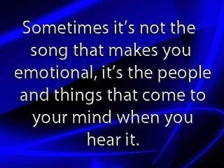 Sometimes it's not the song