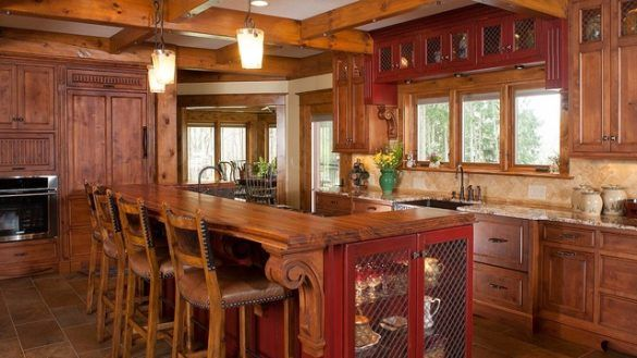Kitchen Astounding Kitchen Rustic Log Home Cleveland By Mullet Cabinet On Cabinets From Rustic Rustic Kitchen Decor New Kitchen Cabinets Rustic Kitchen Island