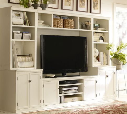 *The Thrifty Home: Refinished And Rebuilt Entertainment Center. Family  Rooms, Pottery Barn ...