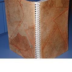 Capa de agenda ou caderno de filtro de café