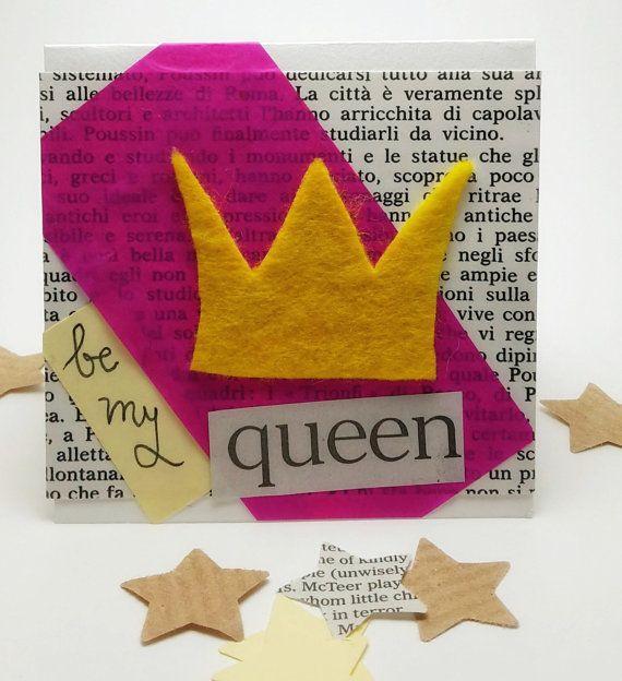 Ephemera Card: Be my queen