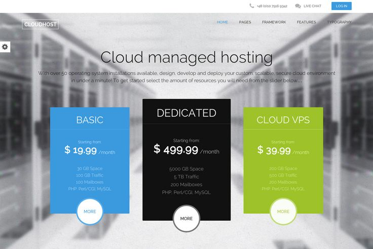 CloudHost Template