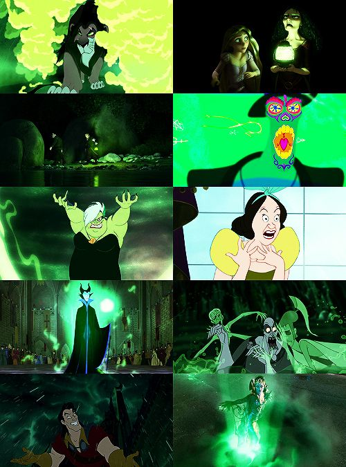 Disney Villains + Colors (Green)
