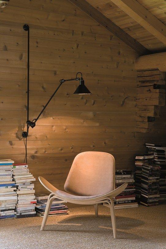 Applique pivotante orientable à bras articulé N° 214 Collection Wall/ceiling lamp by DCW éditions