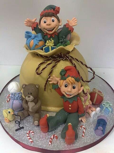 173 Best Christmas Cake Toppers Images On Pinterest