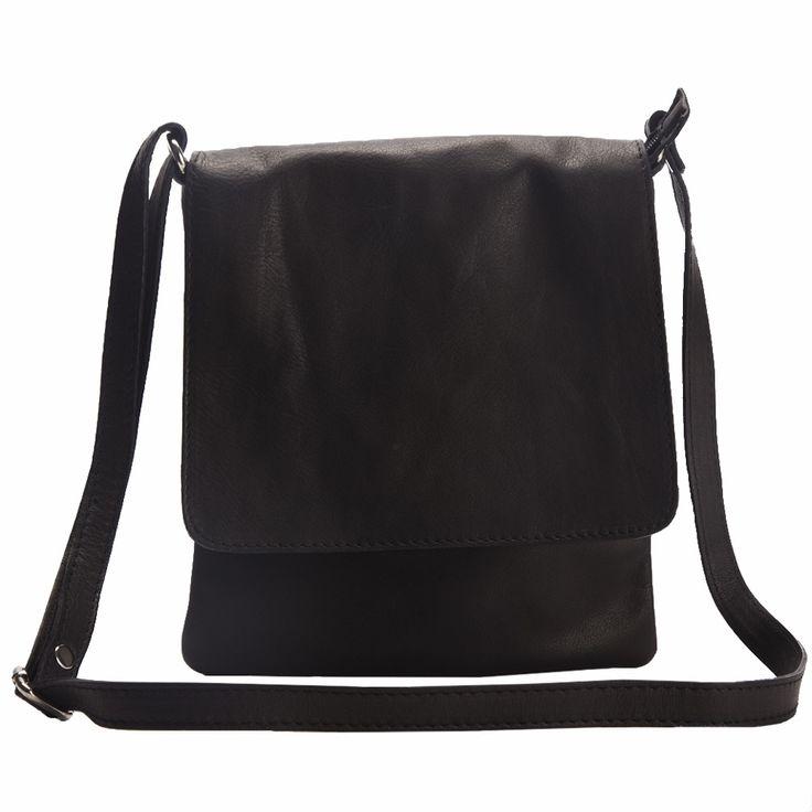 Rachael B black unisex  Italian leather cross body bag  made in Italy  Free shipping within Australia