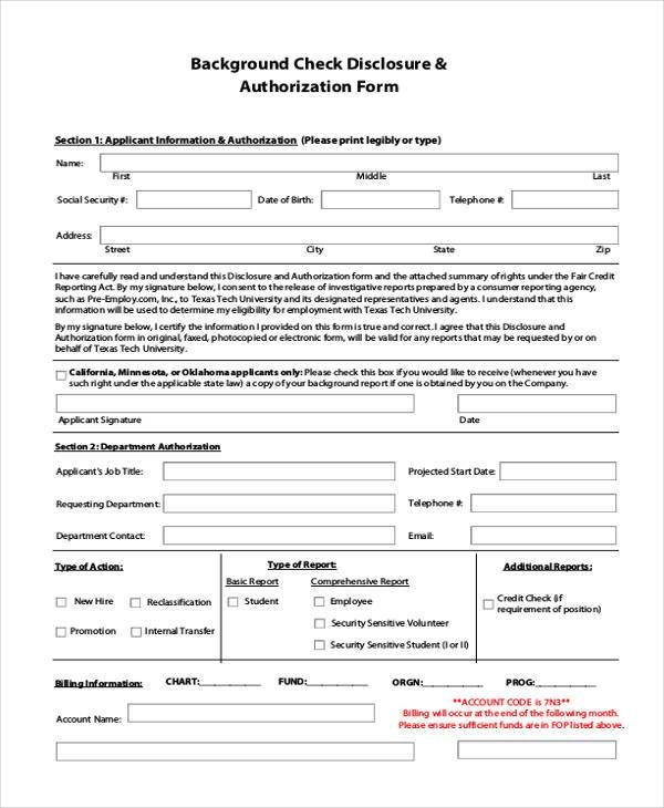 Check Out Background Check Form Background Check Criminal