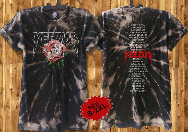 Yeezus Shirt Kanye West Tour t shirt Yeezus Tour Merchandise custom bleached dye #Handmade #GraphicTee