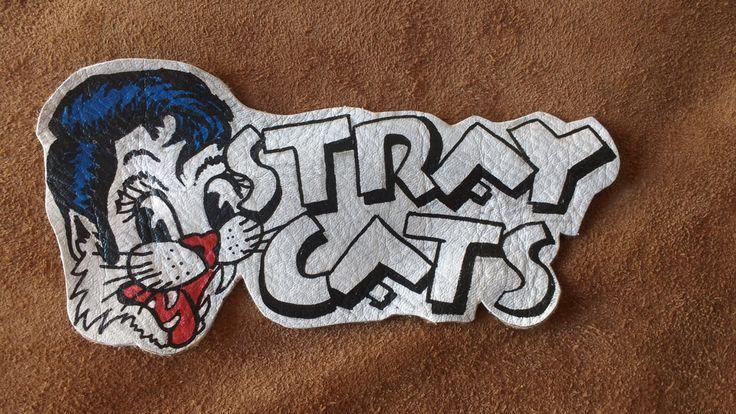 Parche de cuero rockabilly Stray Cats de OmahaBeach en Etsy