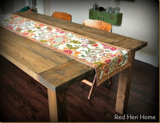 Learn how to make this gorgeous farmhouse table in a tutorial by Red Hen Home.