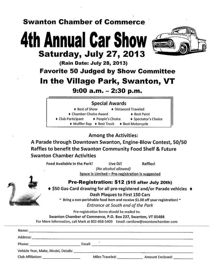 19 best Car Show Registration Forms images on Pinterest Flyers - registration forms