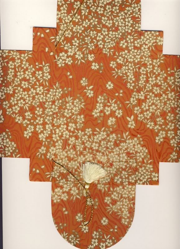 Burnt Orange # 131 Collapsible Box (flat)  (99)