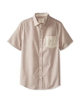 55% OFF Threads 4 Thought Men's Oxford Contrast Pocket Short Sleeve Shirt (Fence)