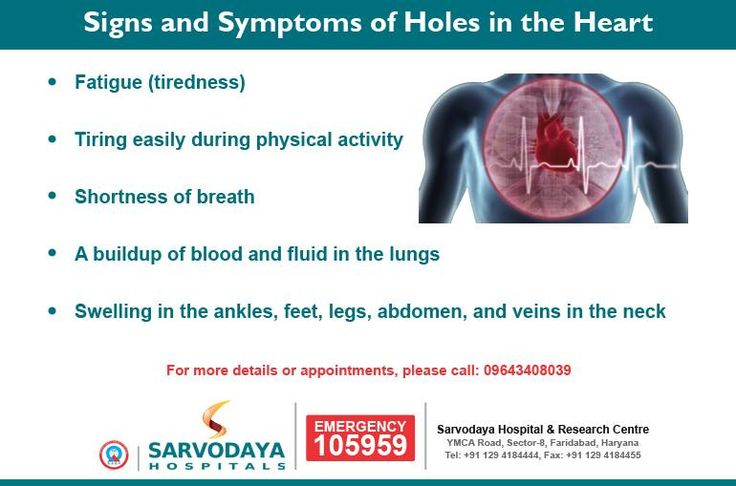 Image result for hole in the heart symptoms