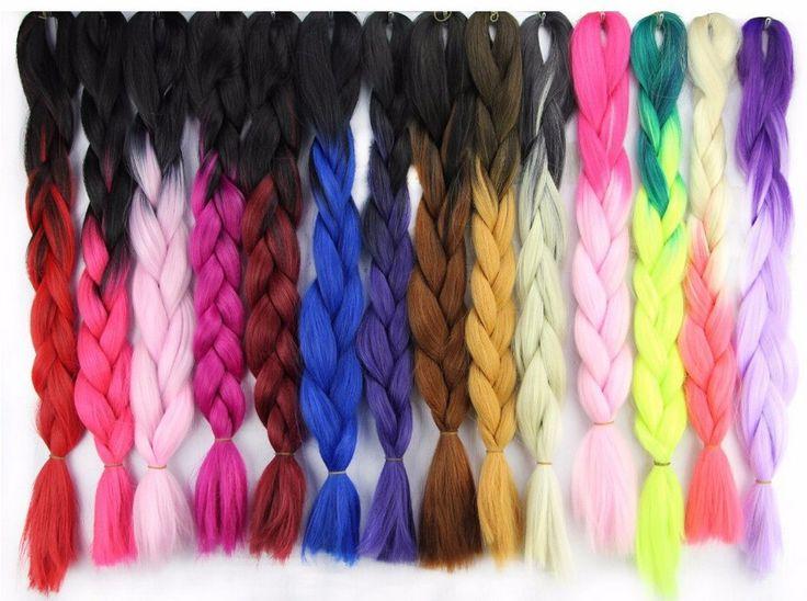 box braids pink and black - Buscar con Google
